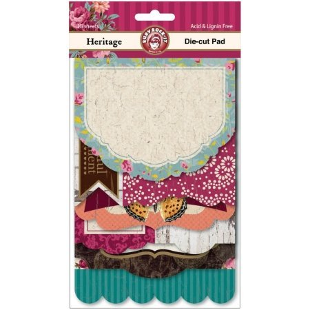 Ruby Rock-It Heritage 18-Sheets Die Cut Pad Multi-Colored