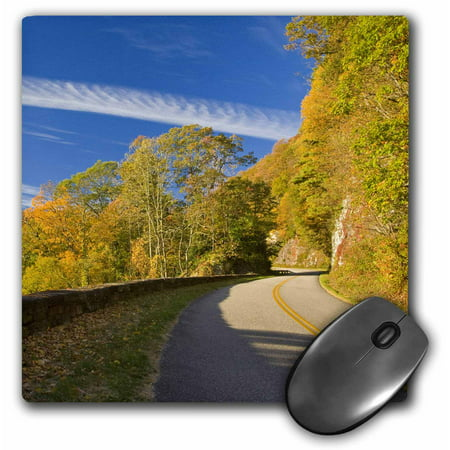 3Drose Autumn  Blue Ridge Parkway  North Carolina   Us34 Cha0006   Chuck Haney  Mouse Pad  8 By 8 Inches