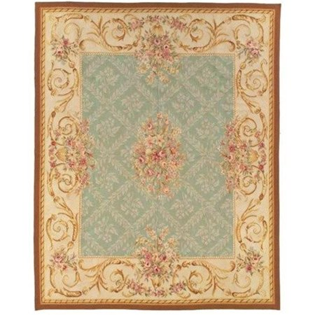 due process stable trading au1aviggo0dbr8sq 8 x 8 ft. aubusson avignon square area rug, gold & dark brown Aubusson Square Rug