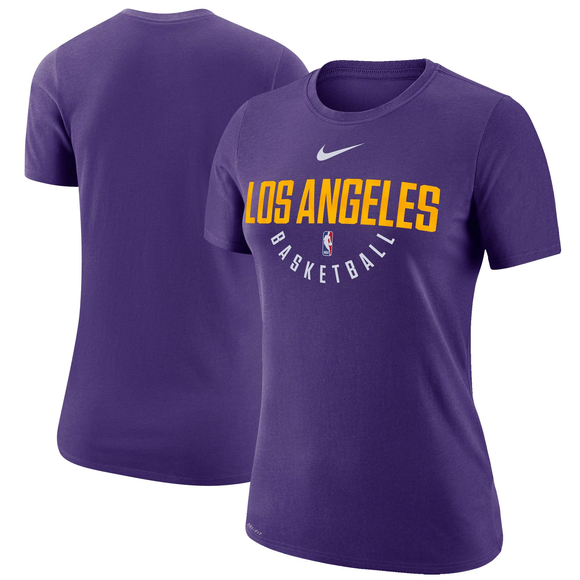 Los Angeles Lakers Nike Women's Practice Performance T-Shirt - Purple