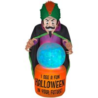 Gemmy Industries Yard Inflatables Fire and Ice Fortune Teller, 7.5 ft