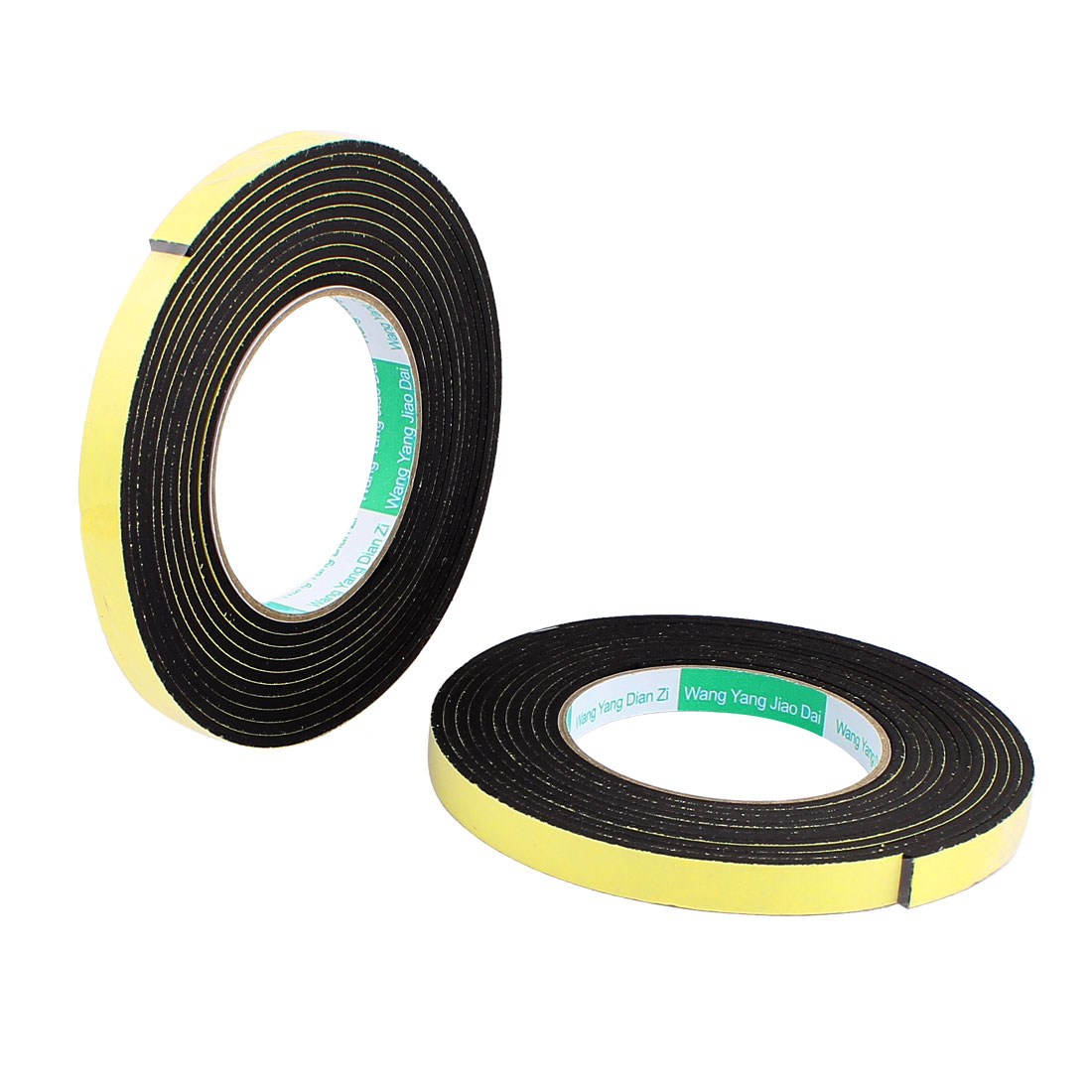 2Pcs 1.2CM Width 4M Long 3MM Thick Single Sided Sealing Shockproof Sponge Tape