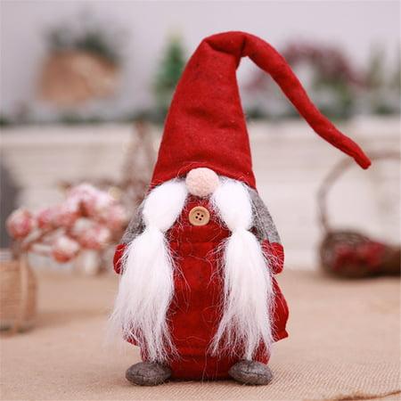 CARLTON GLOBAL 17 Inches Handmade Christmas Gnome Swedish Figurines Holiday Decoration Gifts ()