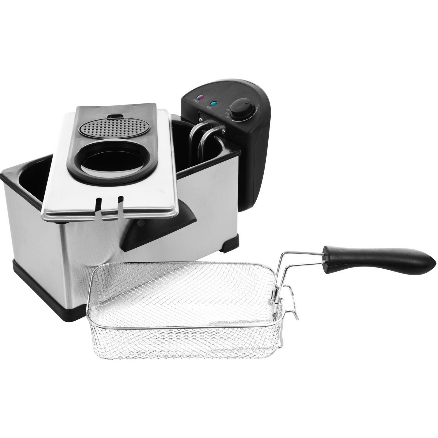 Chef Buddy Electric 3.20 Quart Deep Fryer, Stainless Steel