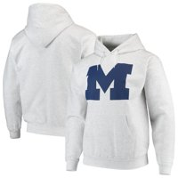 Michigan Wolverines Russell Athletic Classic Fit Chase Pullover Hoodie - Gray