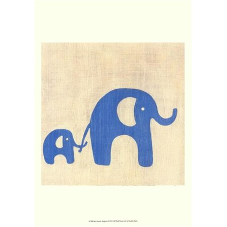 Old World Prints OWP43758D Best Friends- Elephants Poster Print by Chariklia Zarris -13 x