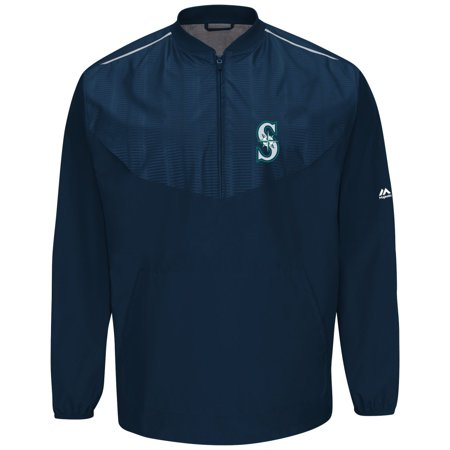 Seattle Mariners Majestic MLB Authentic Cool Base On-Field Training Jacket by