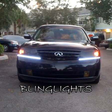 2003 2004 Infiniti M45 Led Drl Light Strips Headlamps Headlights