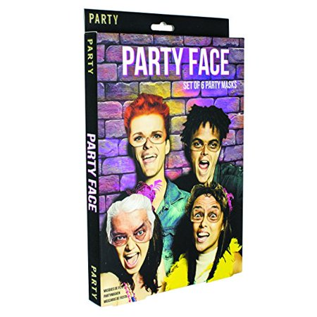 Paladone Funny Party Face Masks (6 (Funny Face Mask)