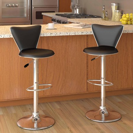 Corliving Tall Curved Back Adjustable Bar Stool 47 75
