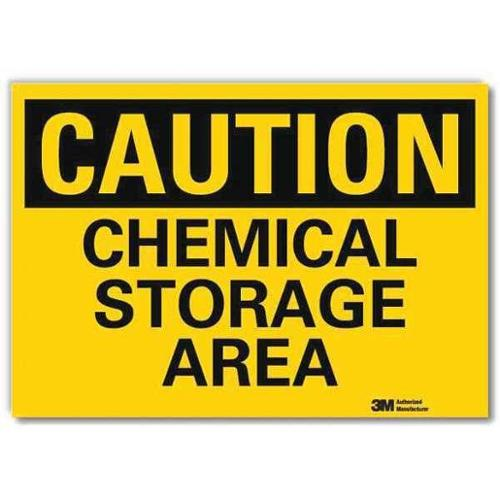 LYLE U4-1114-RD_7X5 Safety Sign,Chemical Storage Area,5in.H G1813631