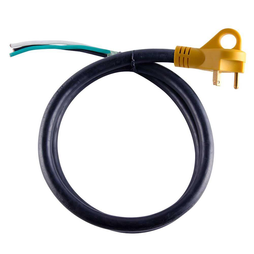 "Superior Electric RVA1522 50 ft. 30 Amp NEMA TT-30P RV 10AWG Cord W/6"" Loose End Plug & Handle"