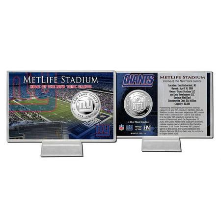 New York Giants Silver Coin Card - Stadium (Stadium Silver Coin Card)
