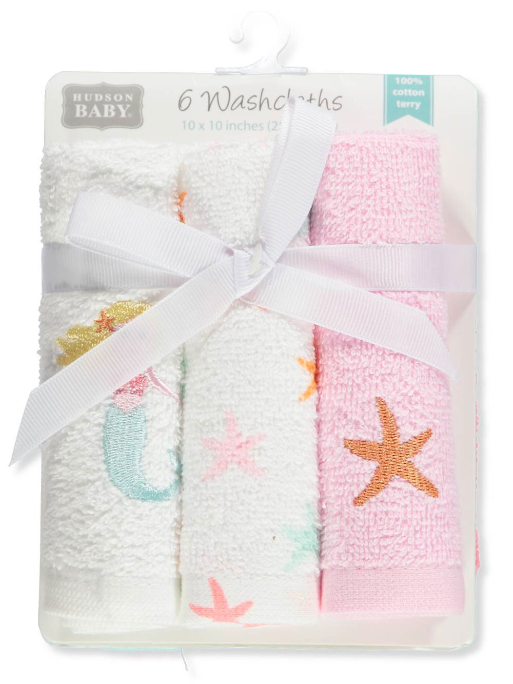 Hudson Baby 6-Pack Terry Washcloths by Hudson Baby