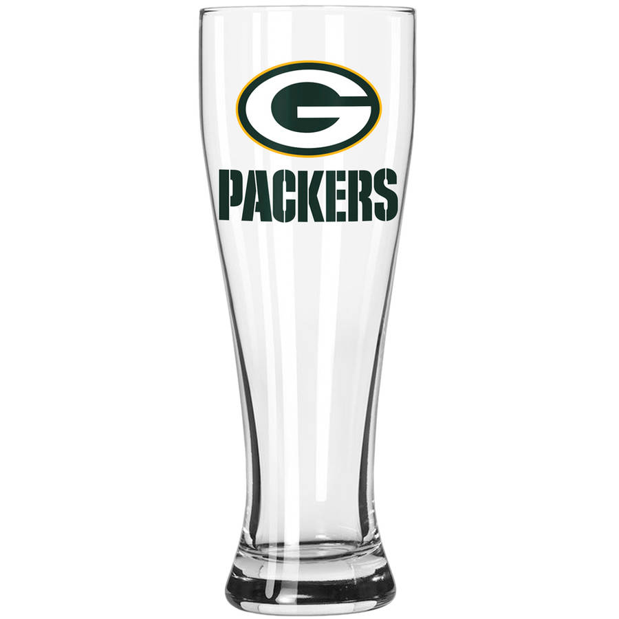 Boelter Brands NFL Green Bay Packers 23-Ounce Grand Pilsner with Full Color Team Logo