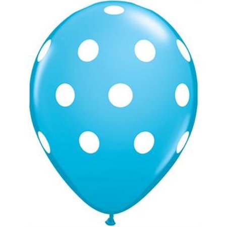 Light Blue Polka Dot Balloons (10 Pack) - 12 Inch Inflatable Latex Boy Baby Shower Balloons, Aqua Birthday Party Decorations, Polka Dot Sea Sky.., By Parties, Weddings & Events
