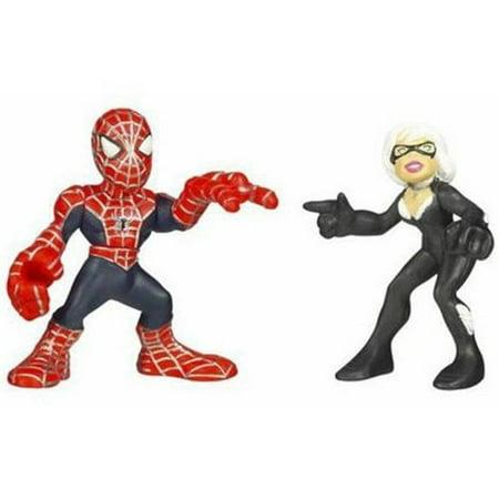 Spider-Man Super Hero Squad Spider-Man vs. Black Cat, By Hasbro Ship from US