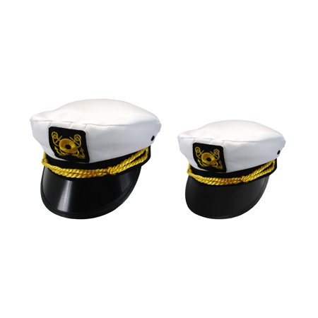600551df30255 Adult Child Mens Womens Couples Ship Yacht Sea Skipper Boat Captain Hat Cap  Set - Walmart.com