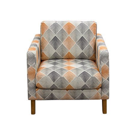 Diamond Sofa Keppel Patterned Fabric Accent Chair in Hawaiian Sunset