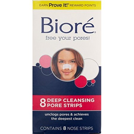 3 Pack - Biore Deep Cleansing Pore Strips Nose 8 (Best Nose Strips For Blackheads)