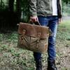Vintage Style Men's Canvas Shoulder Casual School Messenger Travel Bag