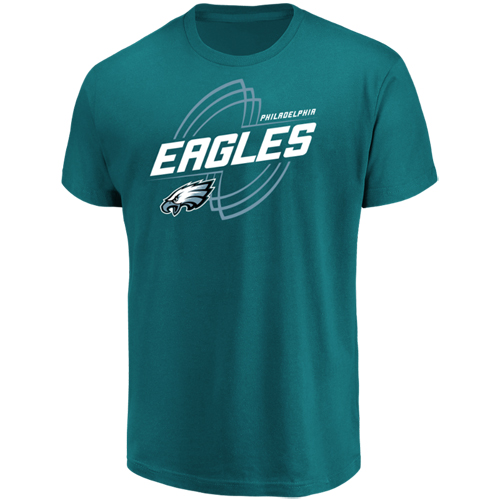 Men's Majestic Midnight Green Philadelphia Eagles Pigskin Classic T-Shirt