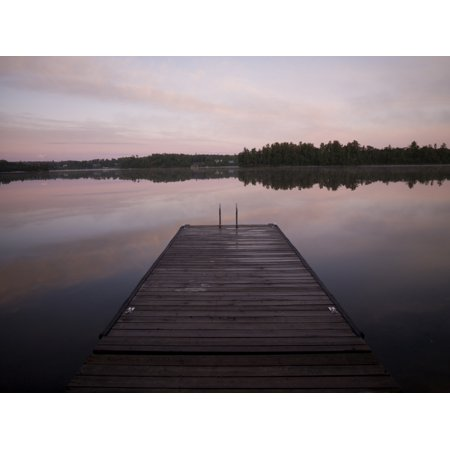 Pier Lake Of The Woods Ontario Canada Stretched Canvas - Keith Levit  Design Pics (36 x - Pier 26 Halloween