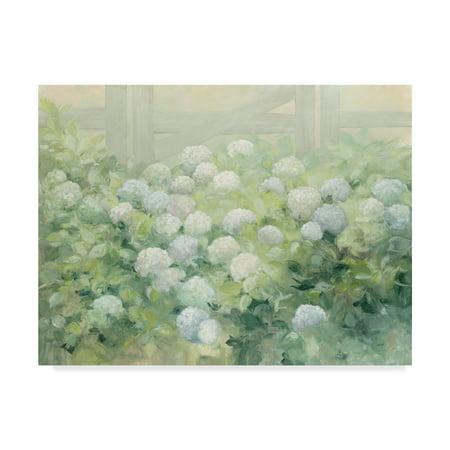 Trademark Fine Art 'Hydrangea Lane Flowers' Canvas Art by Julia Purinton (Hydrangea Giclee Canvas Art)