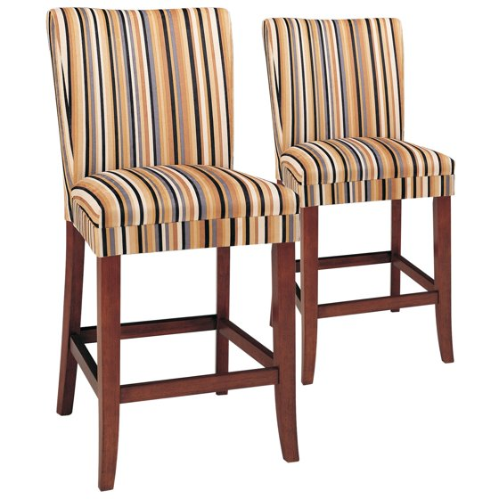 24 Inch Razz Print Counter Stool Set Of 2 Walmart Com