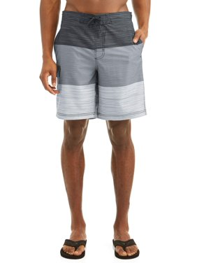 d1b46d02a91f0 Product Image Men's Text Color Block Eboard 9-Inch Swim Short , up to size  5XL