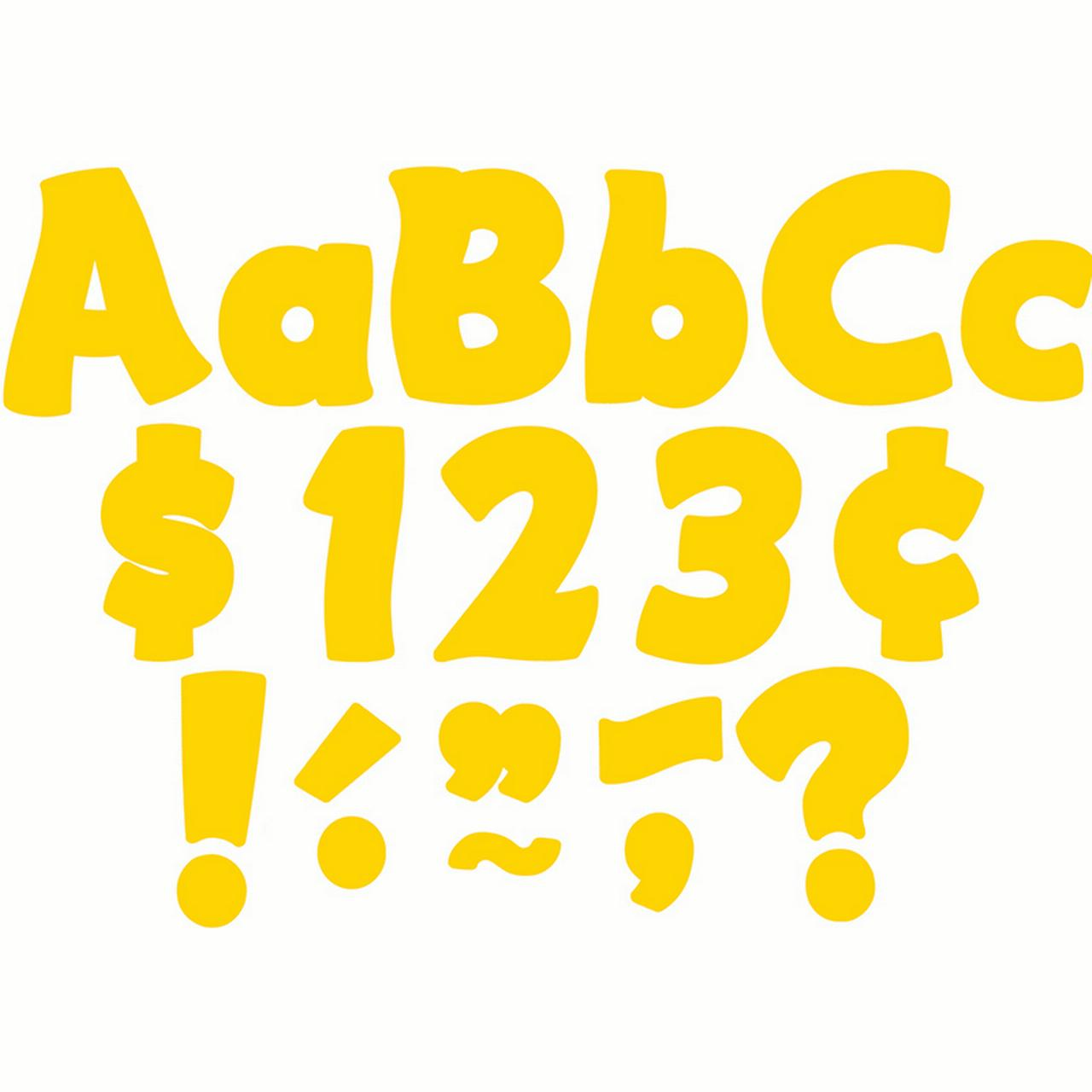 YELLOW GOLD FUNTASTIC 4 IN LETTERS COMBO PACK
