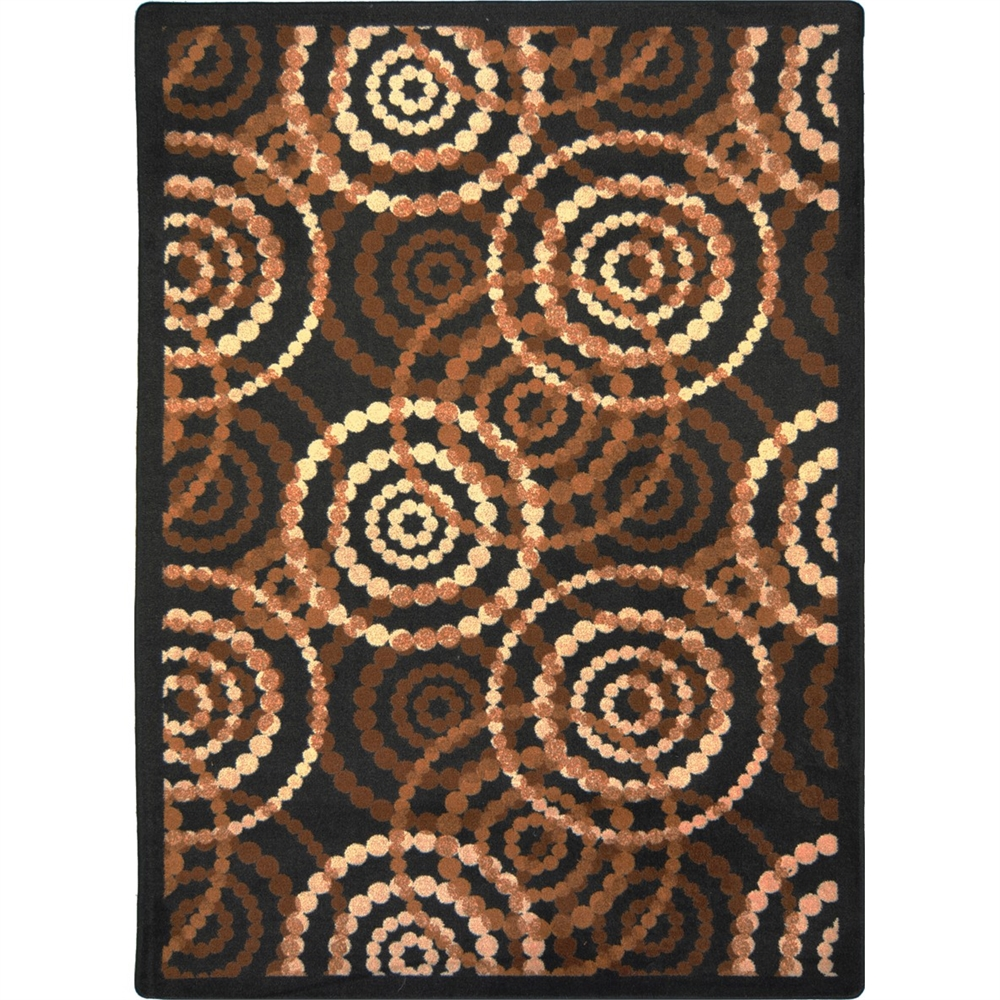"Joy Carpets Kid Essentials - Teen Area Rugs Dottie, 3'10"" x 5'4"", Desert"