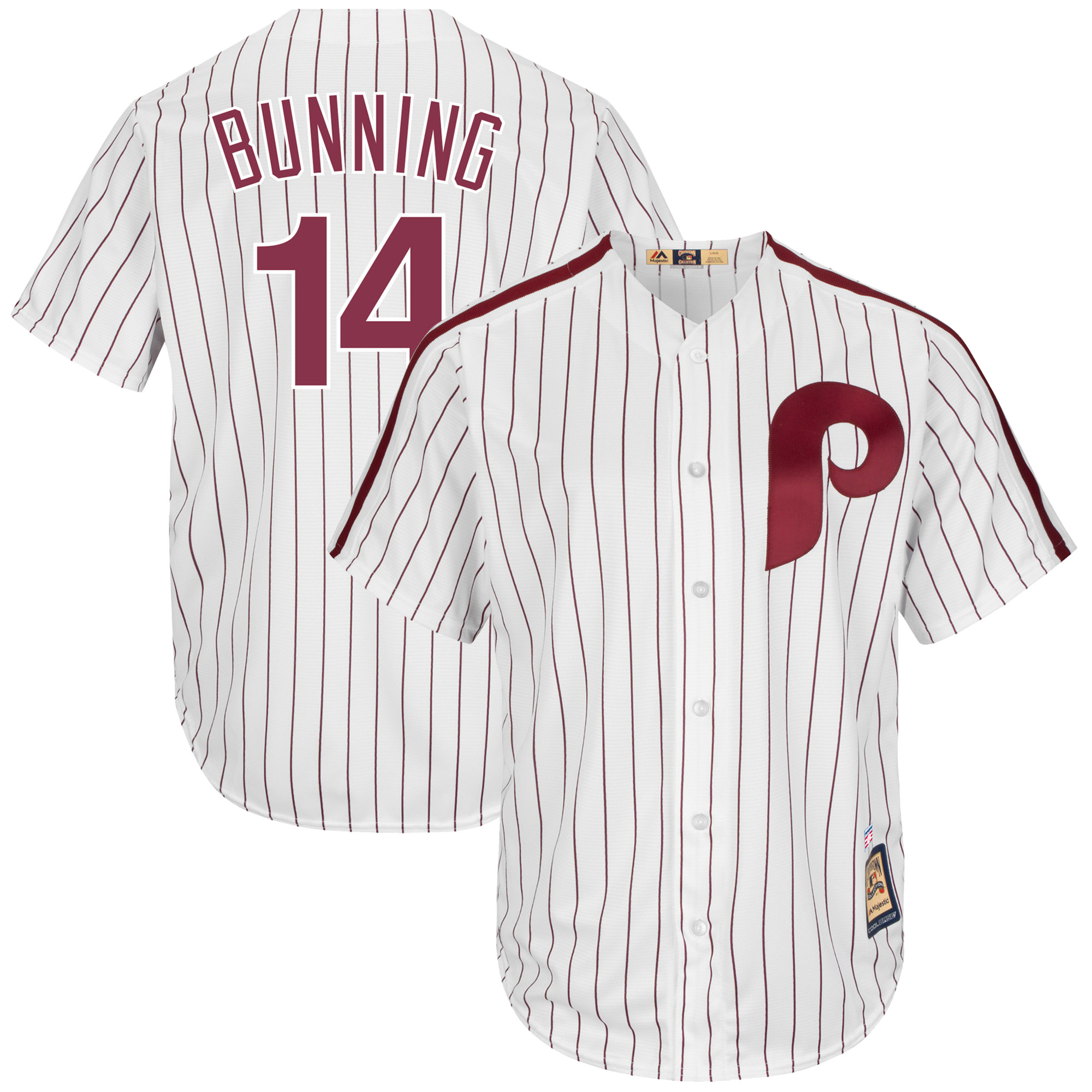 Jim Bunning Philadelphia Phillies Majestic Cooperstown Collection Cool Base Player Jersey - White