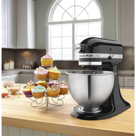 Best KitchenAid Classic Series 4.5 Quart Tilt-Head Stand Mixer, Onyx Black (K45SSOB) deal