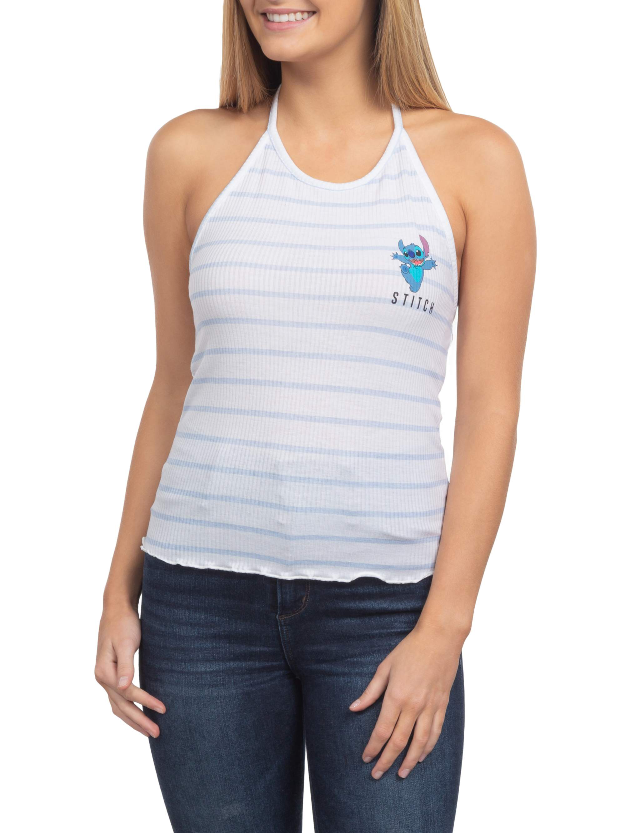Stitch Juniors' Licensed Halter Graphic Tank