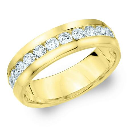 Eternity Wedding Bands   1 CTTW Diamond Men's Wedding Band in