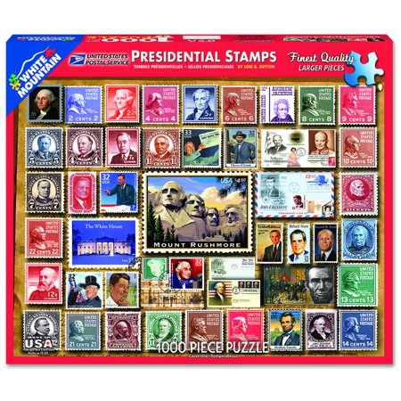 White Mountain Puzzles Presidential Stamps 1000 Piece Jigsaw Puzzle