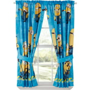 Despicable Me Minions Kids Bedroom Curtain Panel Set, Set of 2, 63-inch L