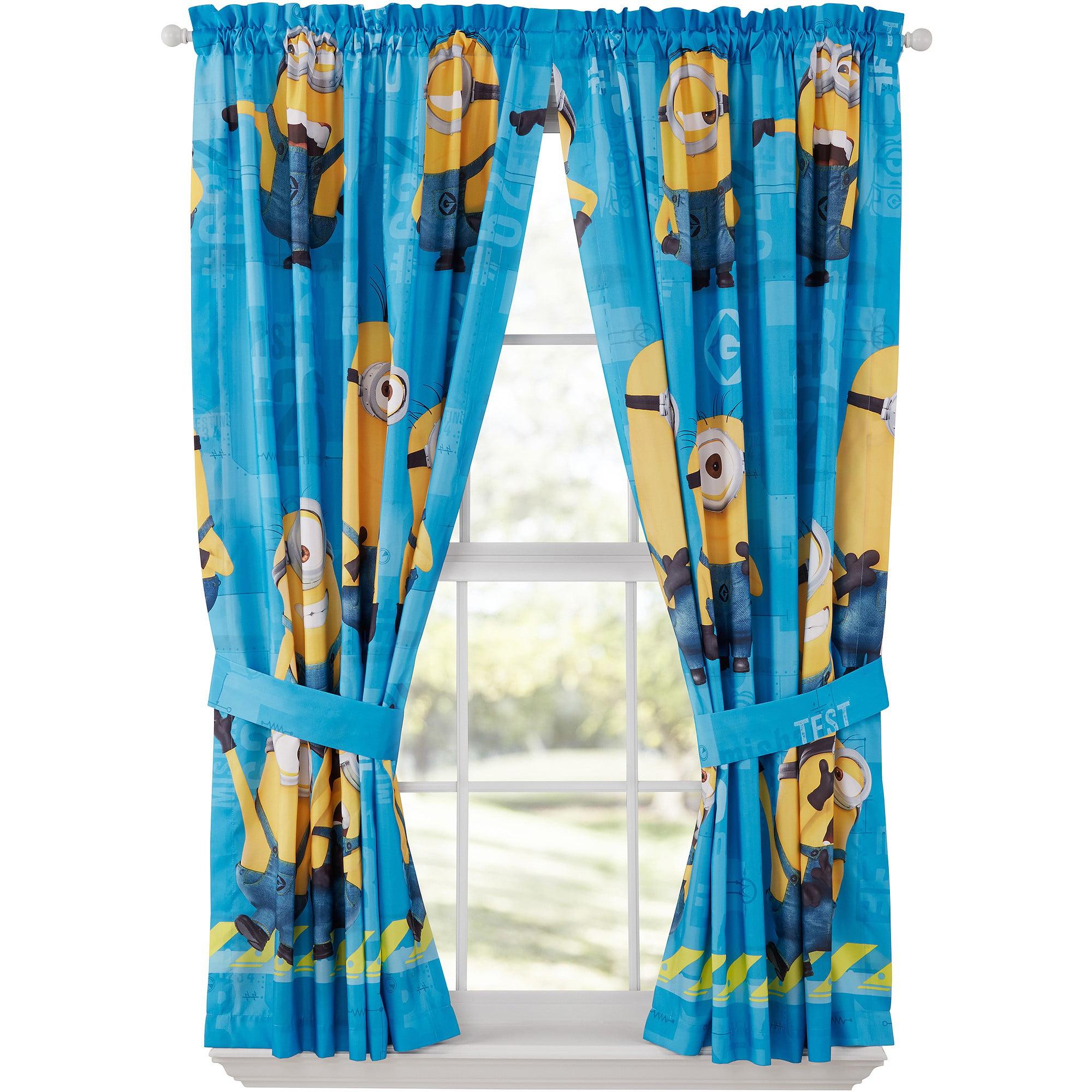 Universal Minions Polyester Curtain Panel Set
