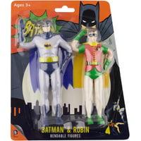 "DC Comics Bendable 5.5"" Figure 1966 Batman & Robin"