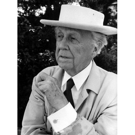 - Frank Lloyd Wright wearing a boater Photo Print