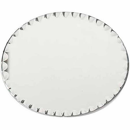 Oval Mirror (Darice Oval Glass Mirror with Scallop Edge, 8