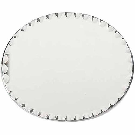 Darice Oval Glass Mirror with Scallop Edge, 8