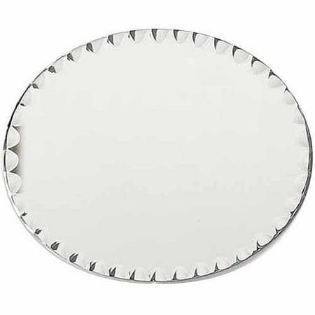 "Darice Oval Glass Mirror with Scallop Edge, 8"" x 10"""