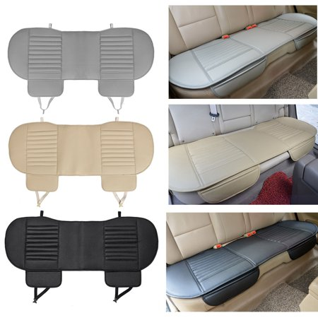 Seat Cushion Cover - 54''x19'' For Universal Auto Vehicle Dustproof Waterproof PU Leather Bamboo Charcoal Car Interior Rear Seat Cushion Cover Pad