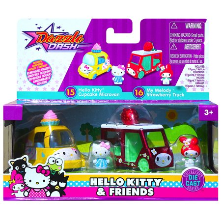 Cars Cupcake (Hello Kitty Cupcake Microvan & My Melody Strawberry Truck Metals Diecast)