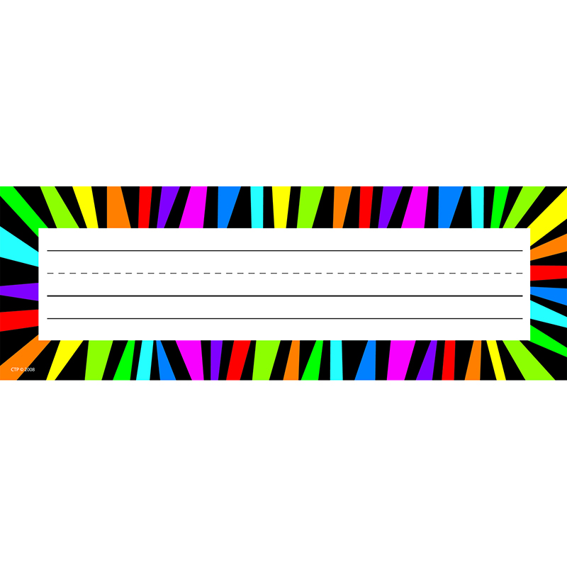 RAINBOW STRIPES NAME PLATES