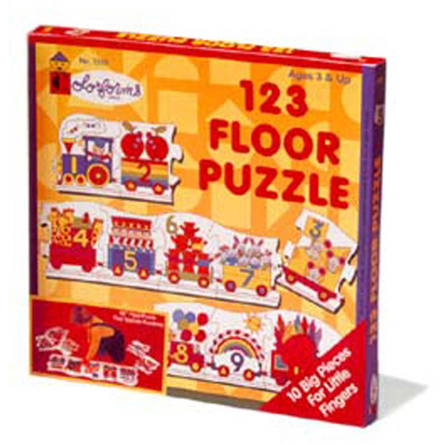 Colorforms 123 Floor Puzzle, 10 Pieces