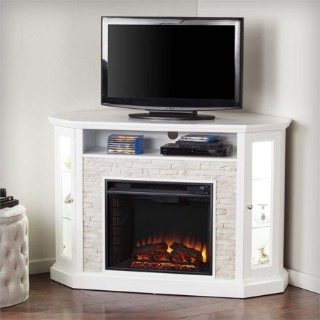 southern enterprises redden corner electric fireplace tv stand. Black Bedroom Furniture Sets. Home Design Ideas