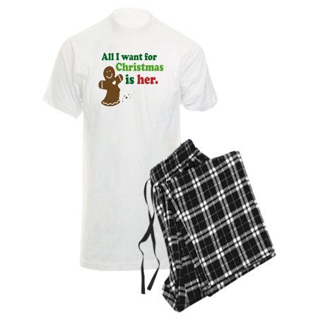 CafePress - Christmas Couples Dating - Men's Light Pajamas - Couple Onesies For Adults